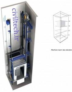 آسانسور های بدن اتاق موتورخانه (Machine Room Less – (MRL) Elevator )