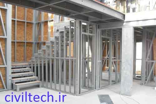 پله در ساختمان LSF