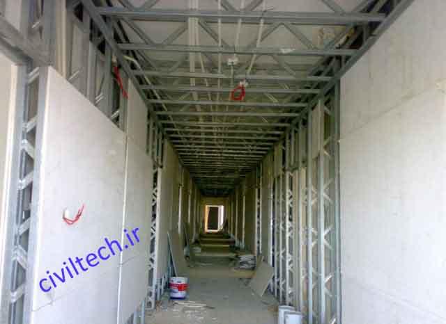 اسکلت ساختمان (سازه های فولادی سبک )LSF