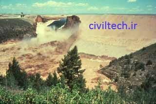 تخریب سد خاکی