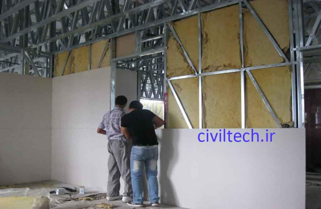 اجرای دیوار در سیستم ساختمانی قاب های سرد نورد شده (LSF)