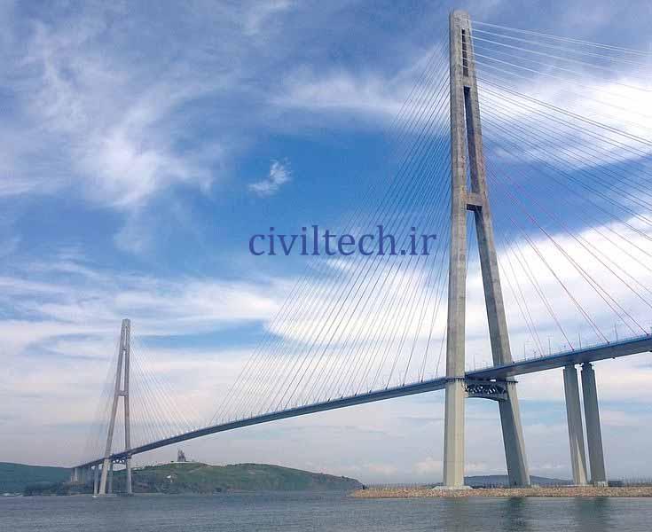 پل کابلی راسکی (Russki Island Bridge)