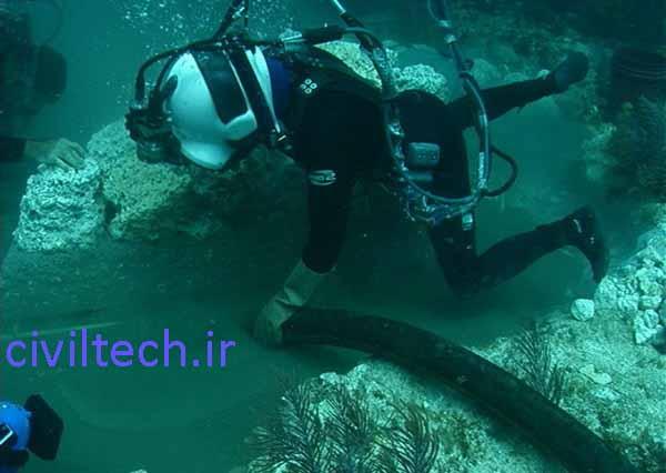بتن ریزی زیر آب با لوله ترمی