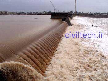 سد لاستیکی (Inflatable rubber dam)