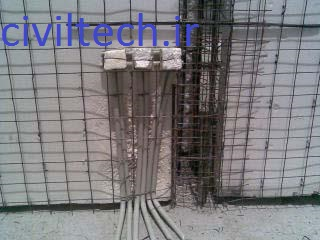 نصب تاسیسات برقی در دیوار پانل سه بعدی ( 3d پانل )