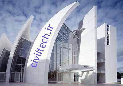 تصویر ساختمانی که با نانو ذرات دی اکسید تیتانیوم پوشانده شده است، این ساختمان همیشه تمیز و ضد عفونی خواهد بود