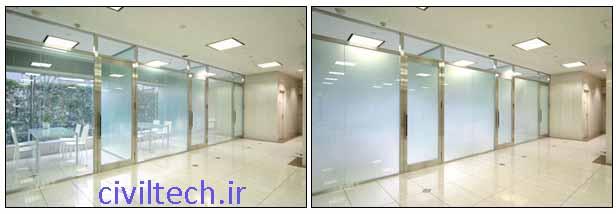 شیشه های هوشمند (نوع کریستال مایع)
