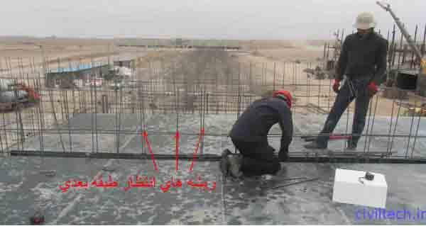 آماده کردن قالب های تونلی برای آرماتور بندی سقف