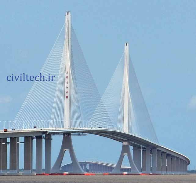 پل کابلی شانگهای یانگتز (Shanghai Yangtze River Bridge)