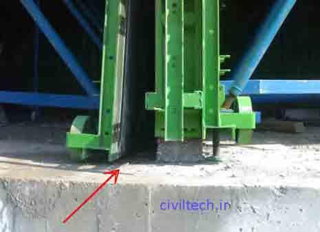 باز کردن پایه های قالب تونلی