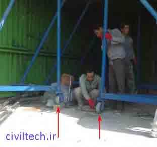باز کردن چرخهای قالب تونلی
